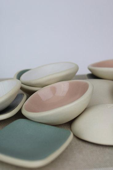 Tiny Wobble Bowl  |  White, Grey Blue, Blush Pink + Sandy White Pink
