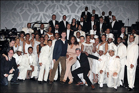 Oprah and the Cast of After Midnight on Broadway
