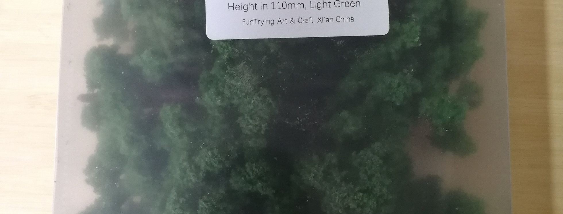10 Pcs 1/87 HO Scale Model Trees tall in 110mm with 18mm Pin