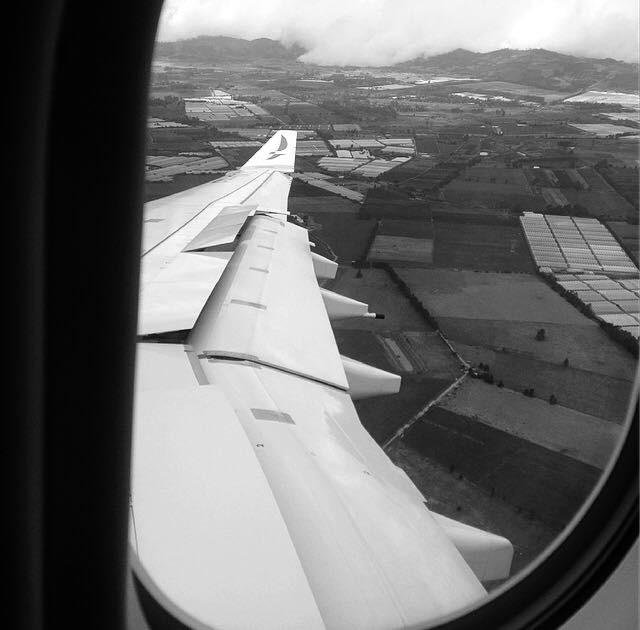 Chegando em Bogotá
