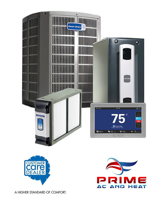 PRIME AC AND HEAT AMERICAN STANDARD AIR CUSTOMER CARE DEALER