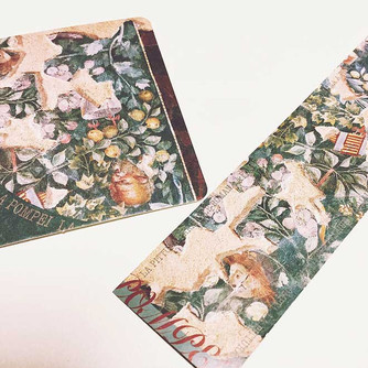 名古屋市博物館『ポンペイの壁画展』割引栞・割引券付きコースター