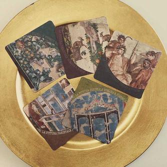 名古屋市博物館『ポンペイの壁画展』割引券付きコースター