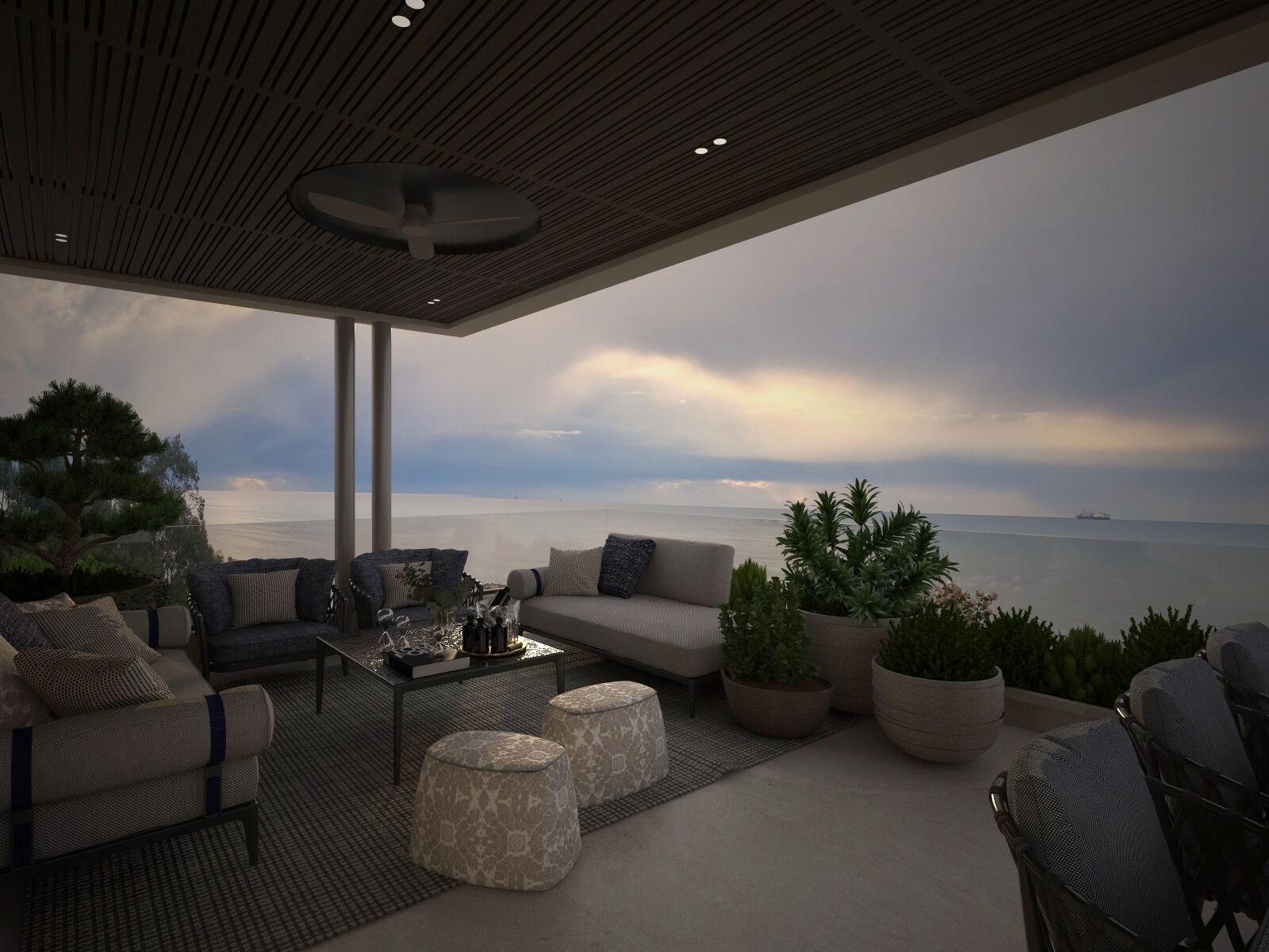 Roof Garden - Beachfront Villa