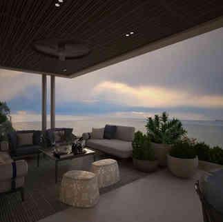 Roof Garden Design, Beachfront Villa