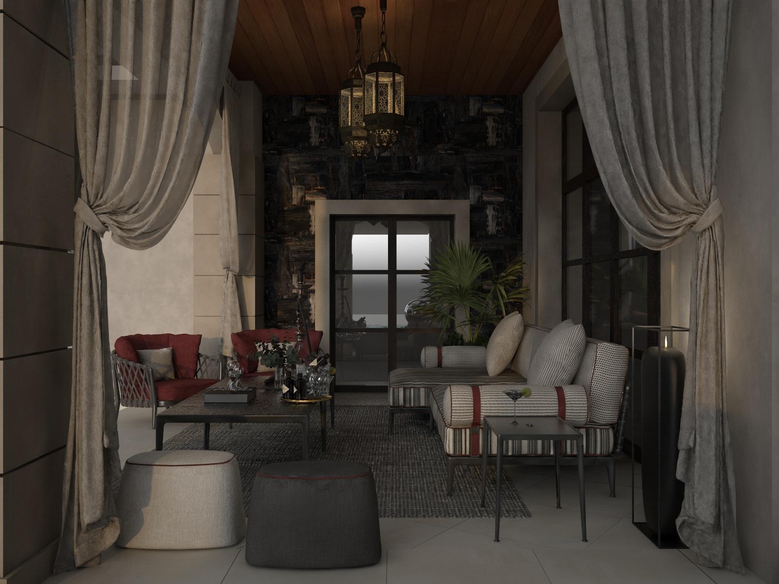 Shisha Lounge Area