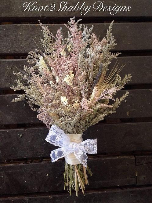 Statice , Caspia, lavender Vintage blush bouquet