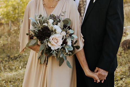 Samantha Collection - midnight burgundy silk bridal bouquet