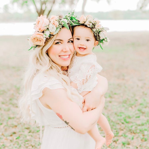 Mothers Day Mommy and Mini Flower crown Workshop for TWO