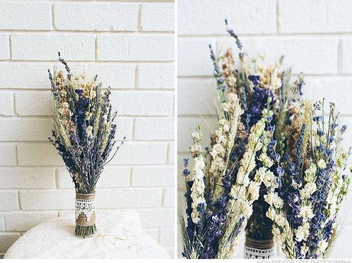 Vintage Lavender Bridesmaids Bouquet