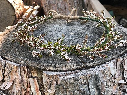 Soft pink woodland dried flower crown