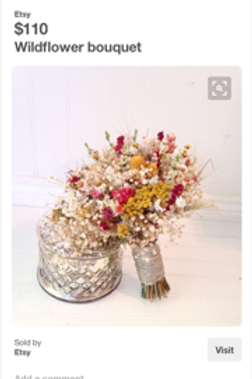 Mustard and farmhouse red dried bouquet