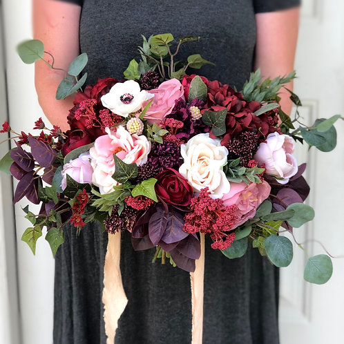 Charlotte collection - rich berry tones iced with cream silk bouquet