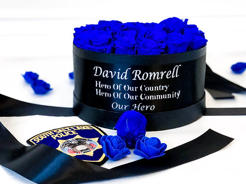 Thin blue line eternity rose box