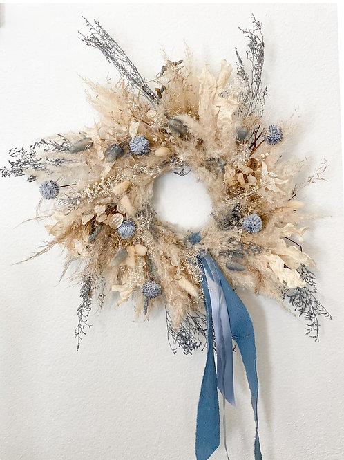 Laurel Collection - Dried Pampas Grass Wreath