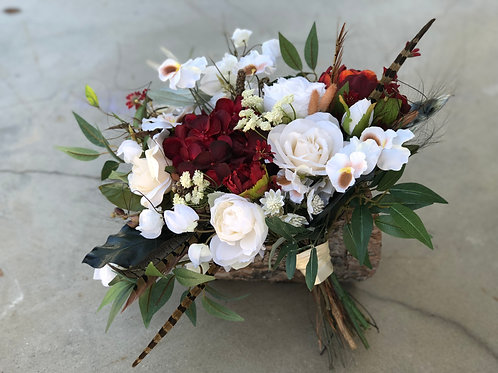 Hunter Collection - silk pheasant feather bridal bouquet