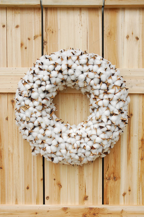 faux Country Cotton wreath