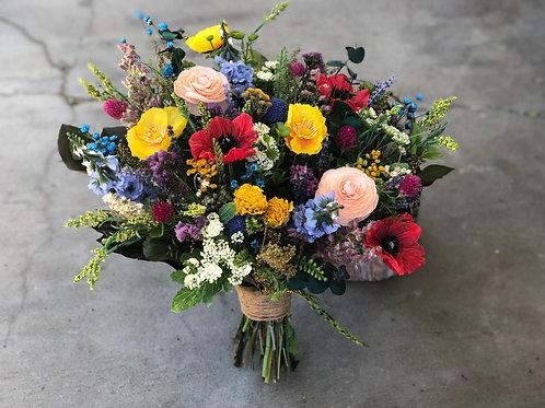 Farmhouse summer wildflower bouquet