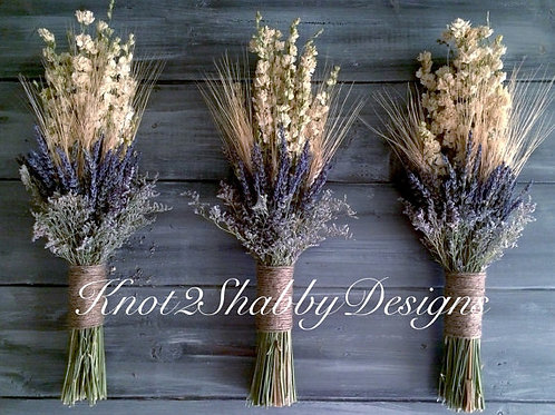 Lavender and Wheat fields Dried bridesmaid bouquet