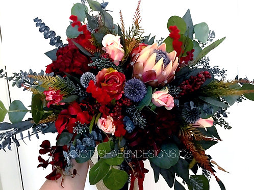 Preserved and Silk  Autumns Dream bridal bouquet
