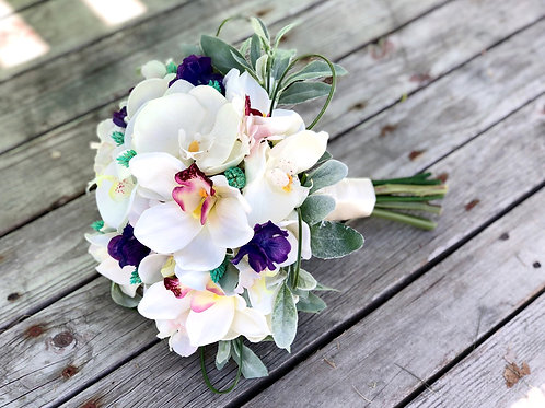 The Stella Collection - orchid ultra violet Silk bridal bouquet