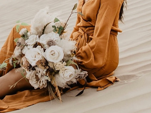 The Olivia collection - Muted fall Silk Bridal bouquet
