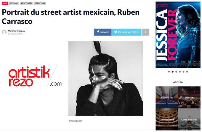 Portrait du street artist mexicain, Rubén Carrasco.