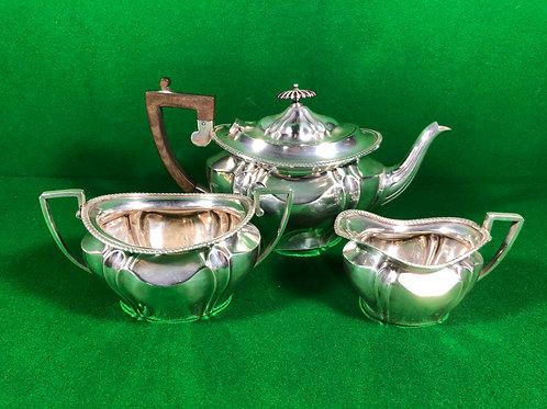 3Pce Sterling Silver Tea Set
