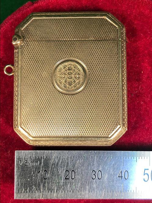 9ct gold Vesta case