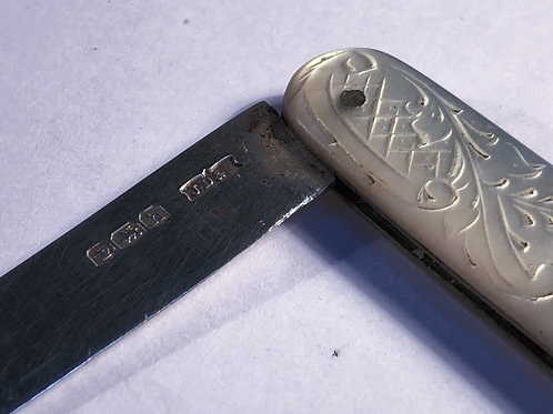 Sterling Silver and Mother of Pearl Fruit Knife
