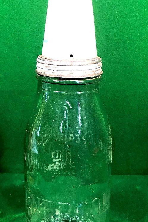 Original BP Energol Quart oil bottle and Tin Top
