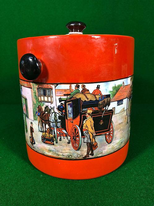 Coaching Scene Biscuit Barrel