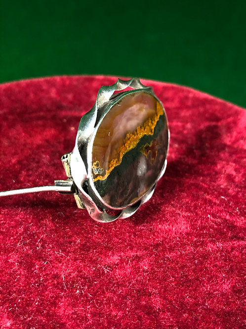 Natural Stone Brooch