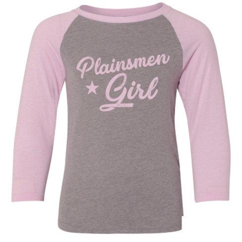 Youth Plainsmen Girl Baseball Tee