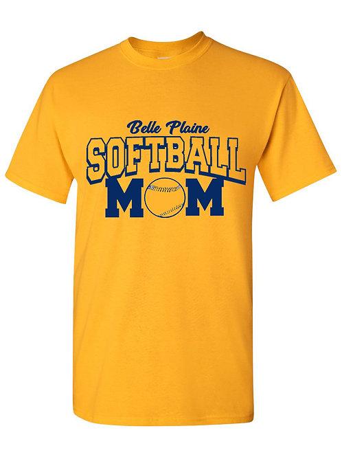 Plus Size Gold Softball/Baseball Mom/Dad T-Shirt