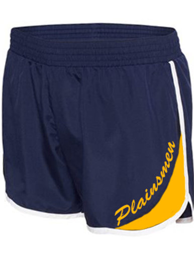 Ladies Navy/Gold Running Shorts