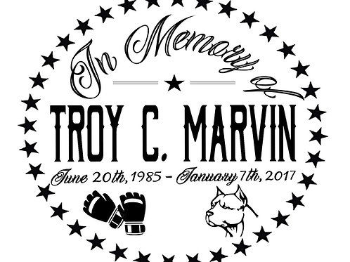 Troy C. Marvin Car Decal
