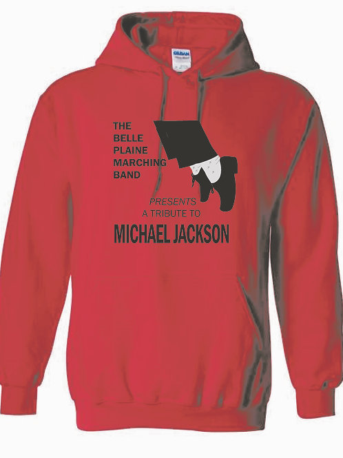 Belle Plaine Marching Band Red Hooded Sweatshirt