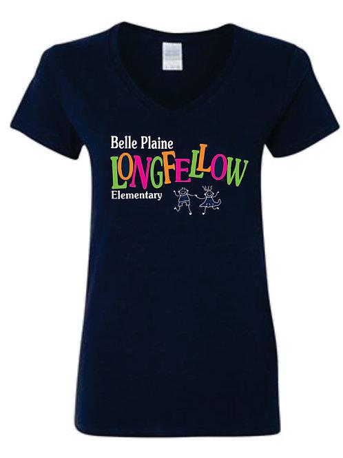 Longfellow Ladies V-Neck T-Shirt
