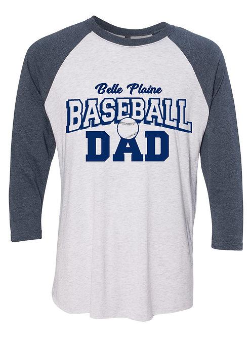 Plus Size Baseball/Softball Mom/Dad 3/4 Sleeve