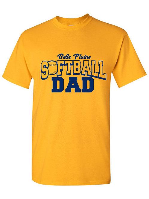 Gold Softball/Baseball Mom/Dad T-Shirt