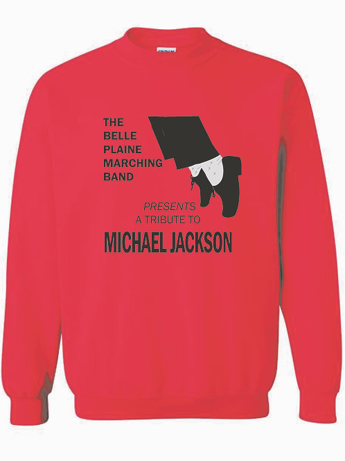 Belle Plaine Marching Band Red Crew Neck Sweatshirt