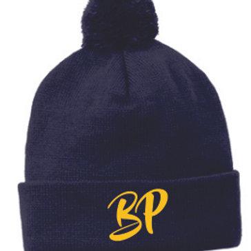 Navy Pom Hat