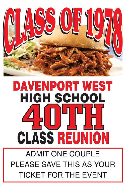 40th Class Reunion Ticket