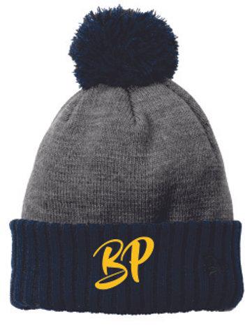 New Era Grey/Navy Pom Hat