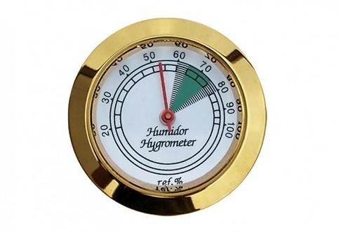 Round Gold Analog Hygrometer