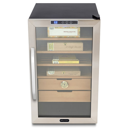 Whynter Stainless Steel 2.5 CuFt Cigar Cooler Humidor
