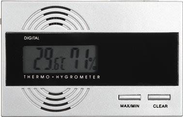 Visol Silver Thermo Hygrometer