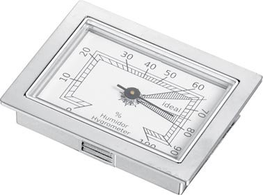 Visol Silver Analog Hygrometer