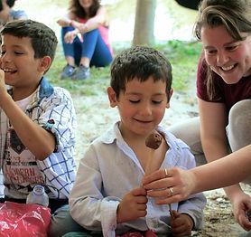 Our Staff + Syrian children